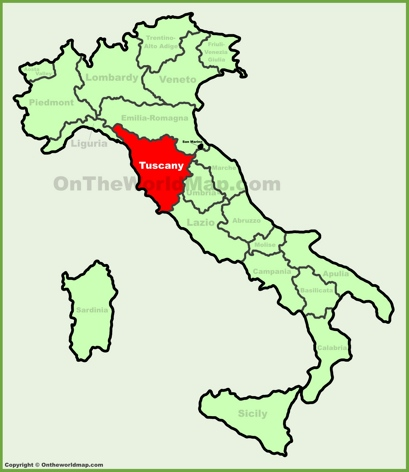 Tuscany Location Map