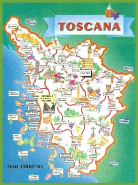 Tuscany tourist map