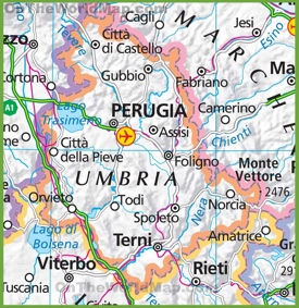 Large map of Umbria