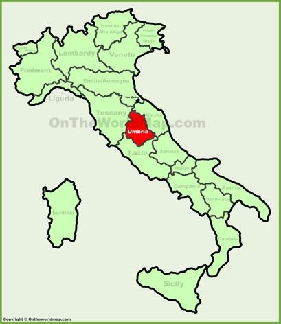 Umbria Cartina Italia.Umbria Mappa Italia Mappe Di Umbria