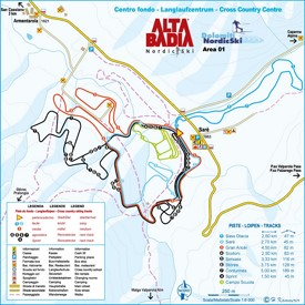 Alta Badia cross country map