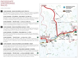 San Cassiano walks map