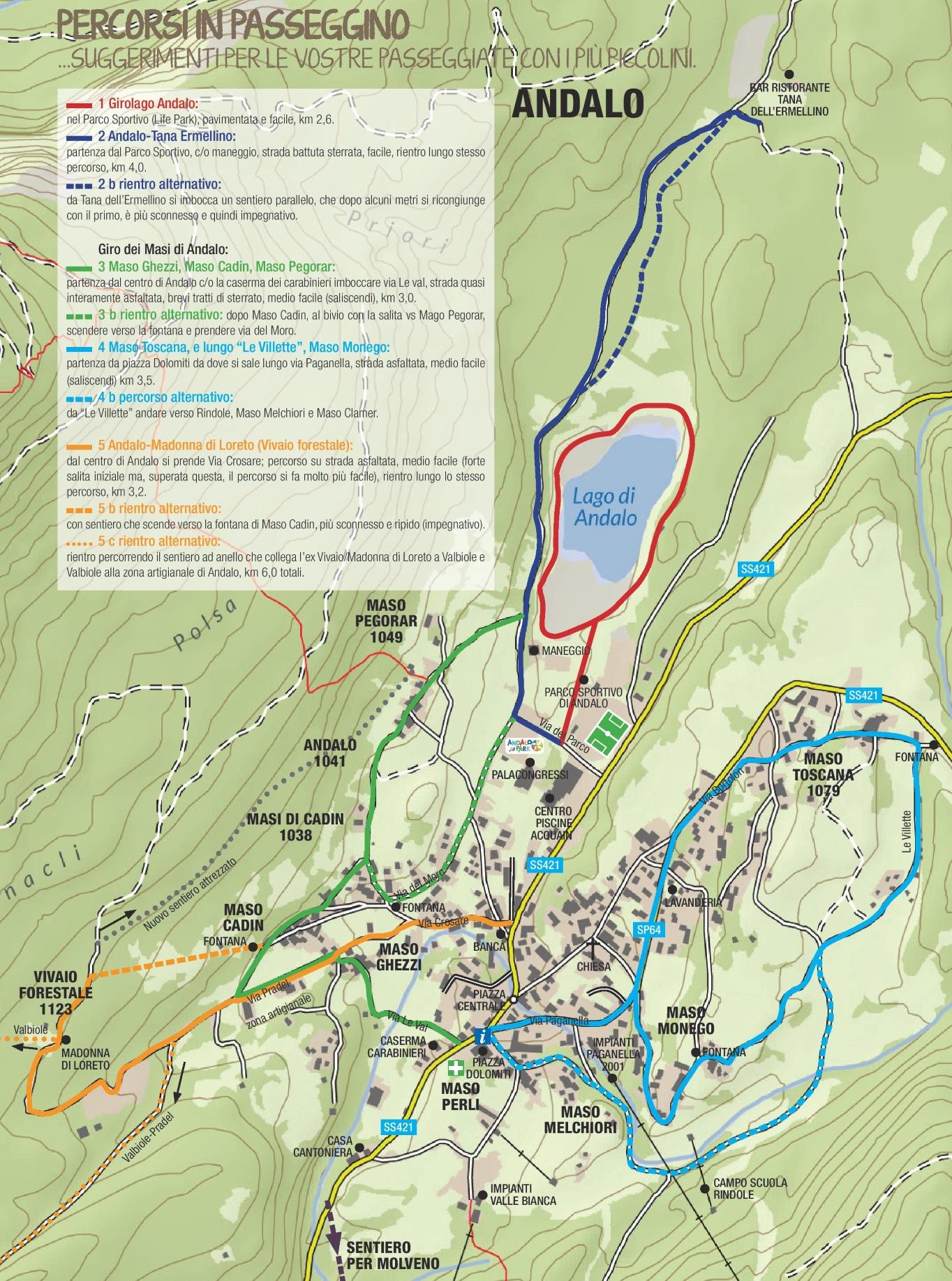Andalo walks map