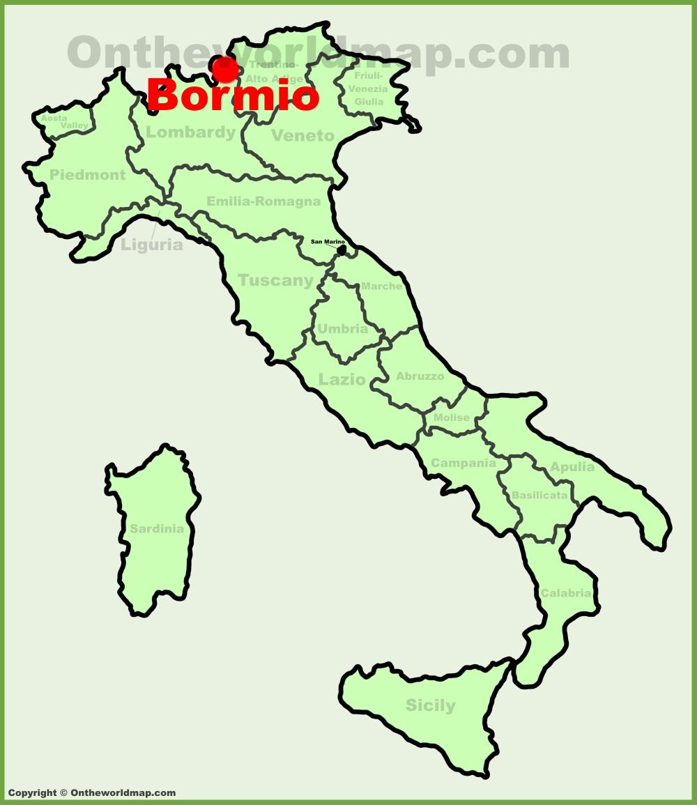Bormio location on the Italy map