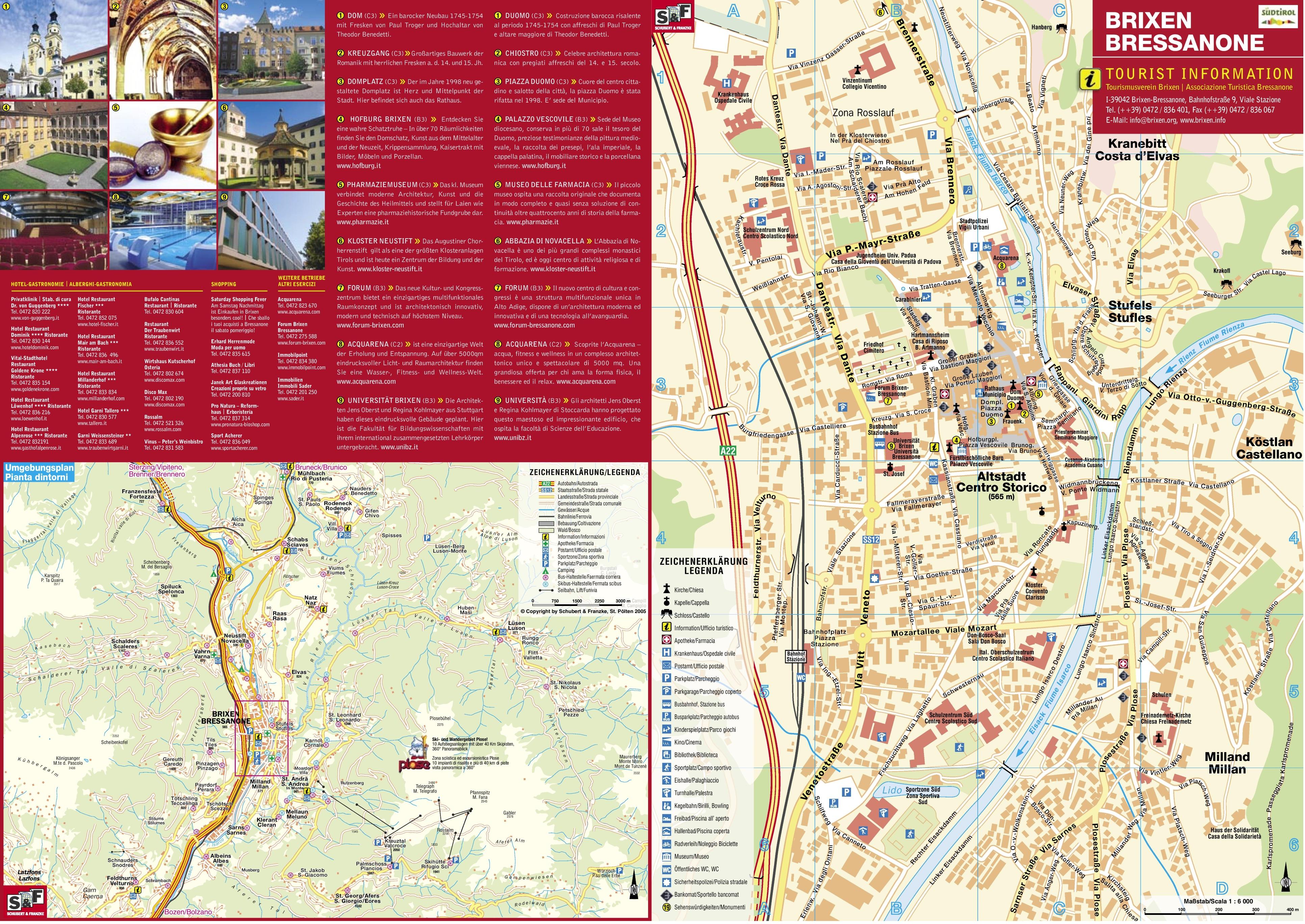 Brixen tourist map