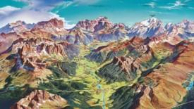 Canazei summer map