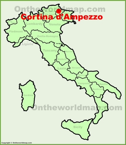 Cortina d'Ampezzo Location Map