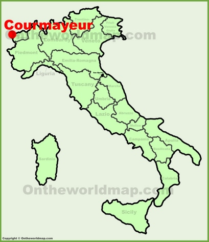 Courmayeur Location Map
