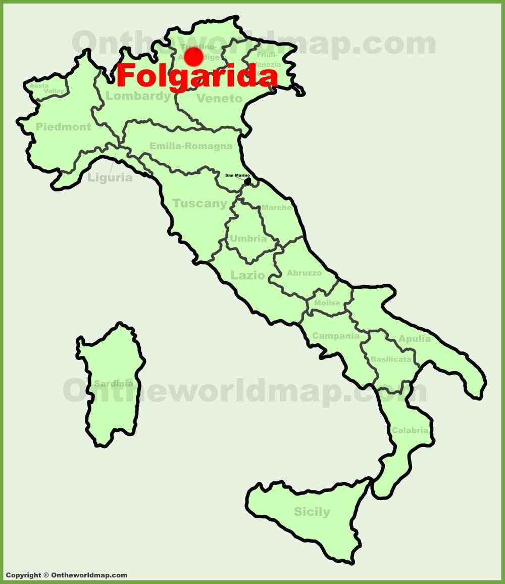 Folgarida location on the Italy map
