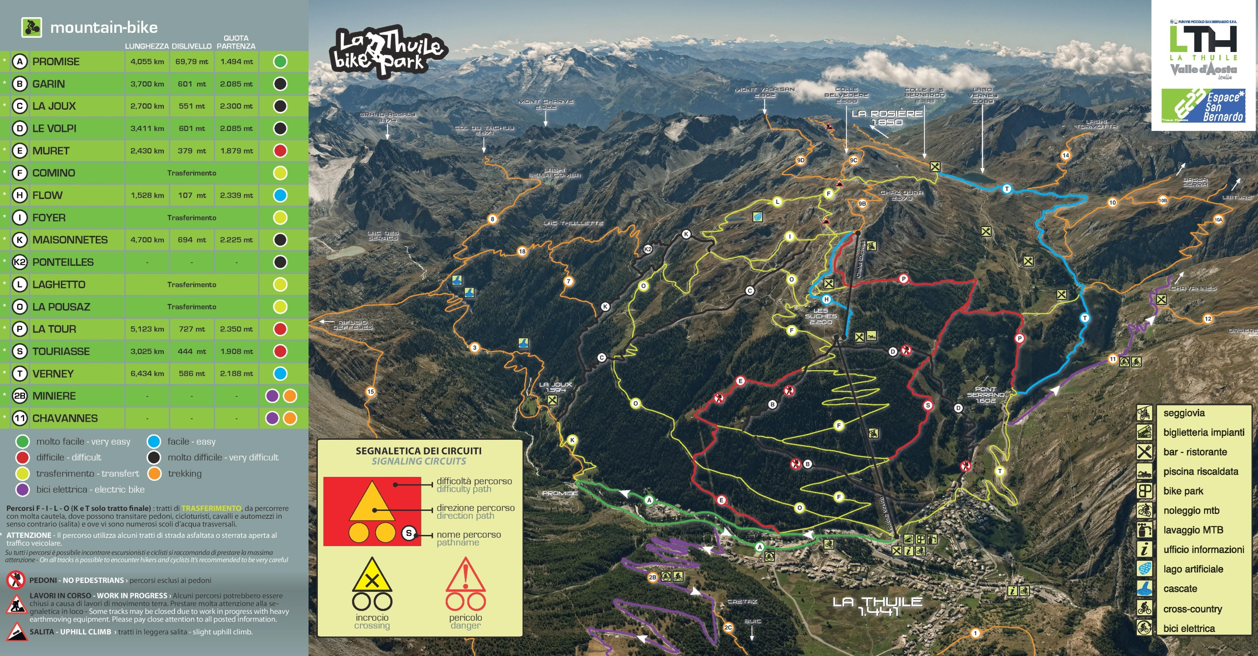 La Thuile bike map