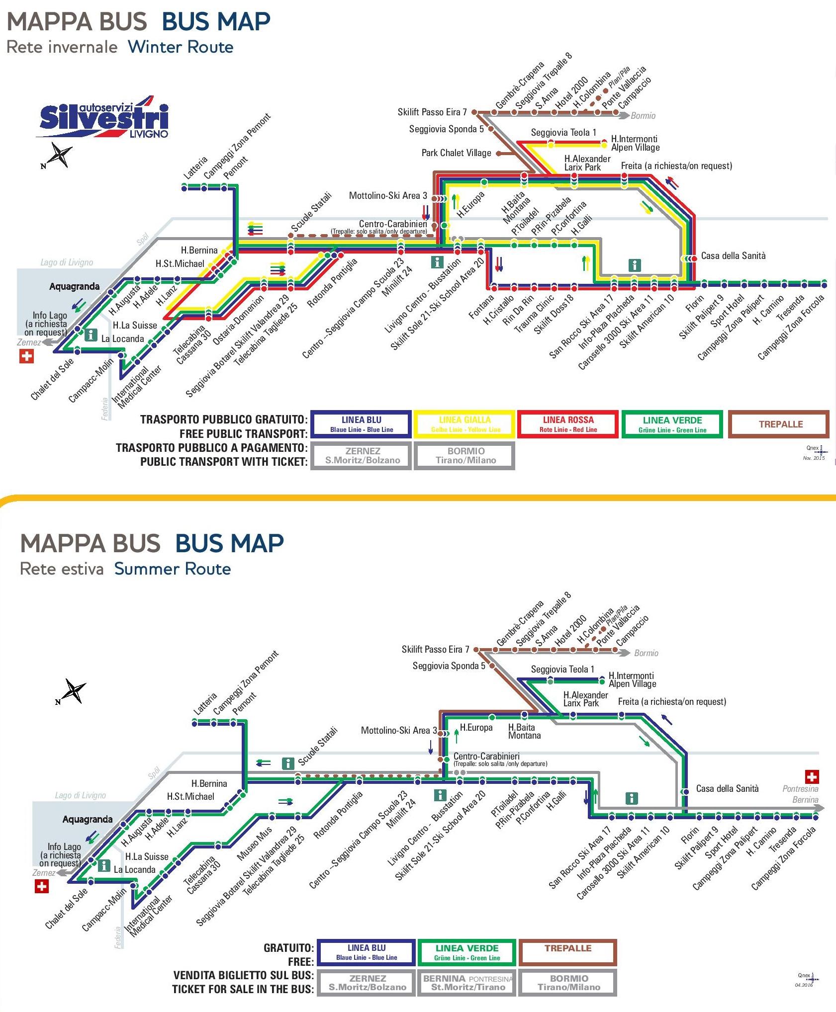 Livigno Italy Map.Livigno Bus Map