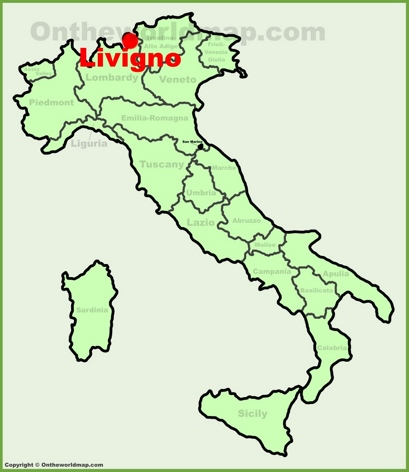 Livigno Location Map