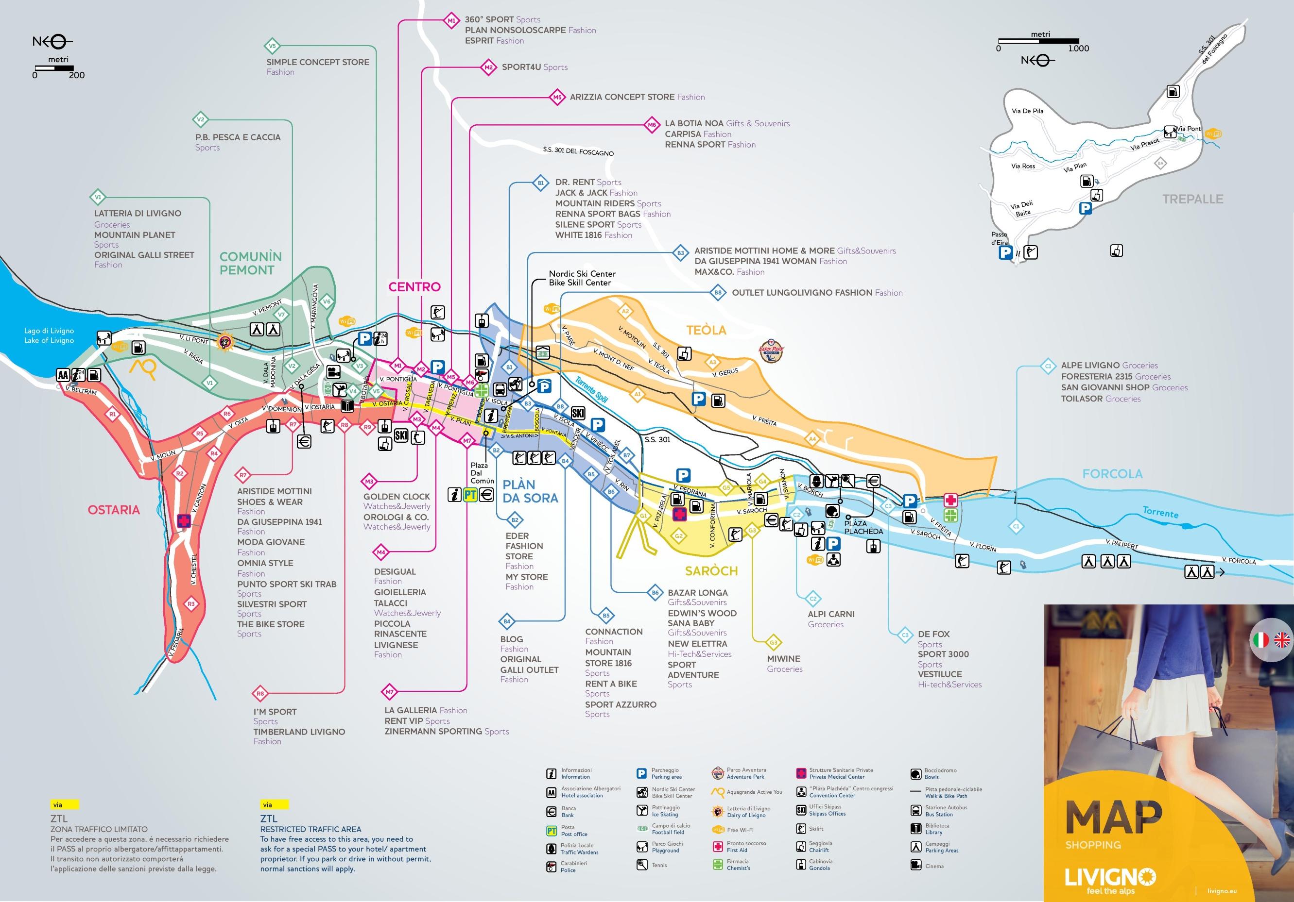 Livigno Italy Map.Livigno Tourist Map