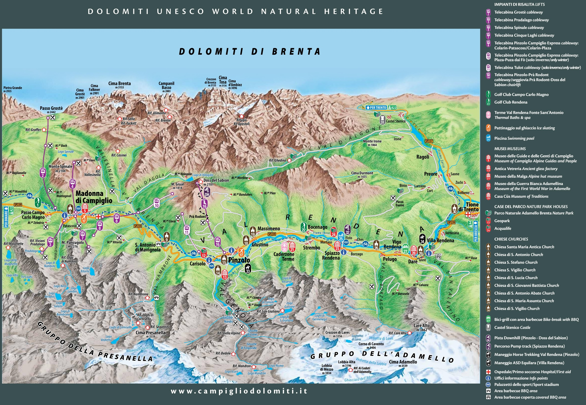 Madonna di Campiglio summer map