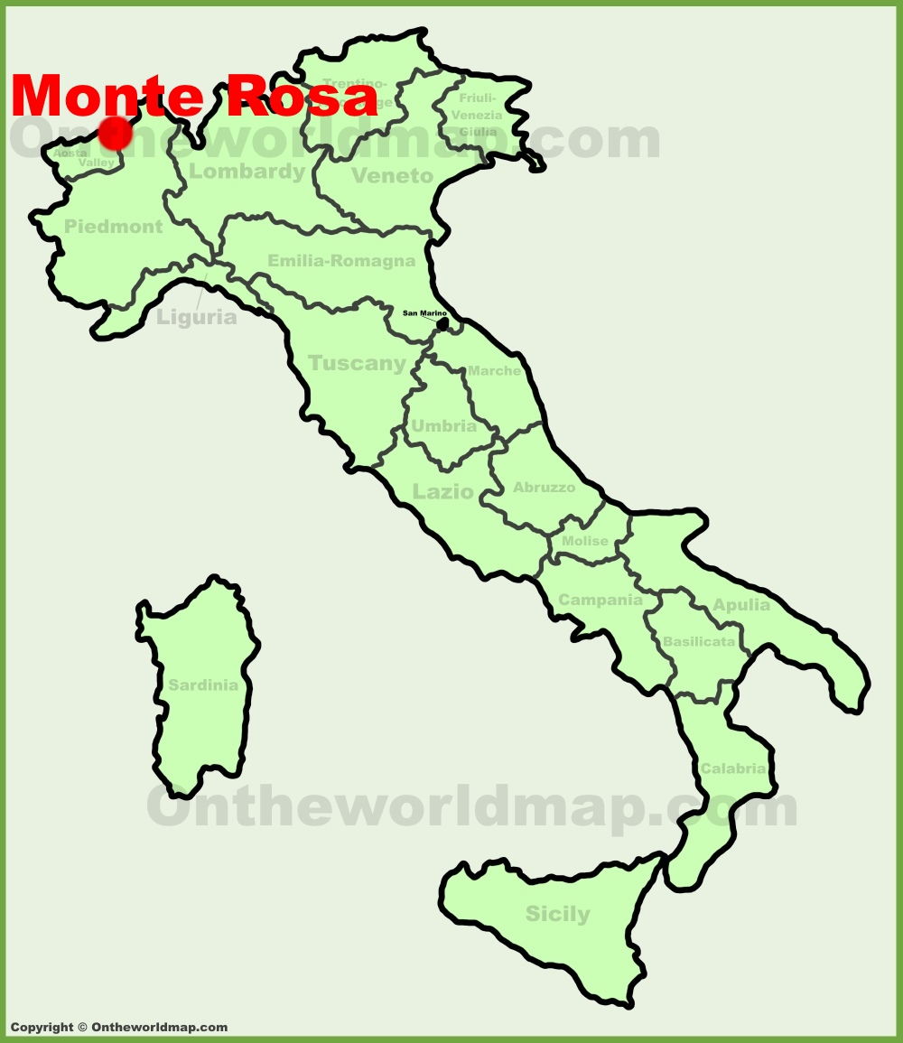 Monte Rosa location on the Italy map
