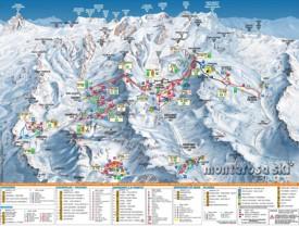 Monte Rosa piste map