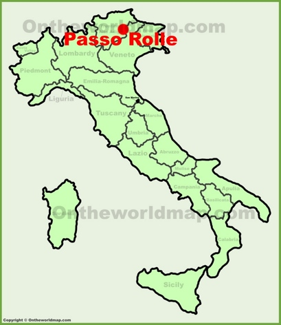 Passo Rolle Location Map