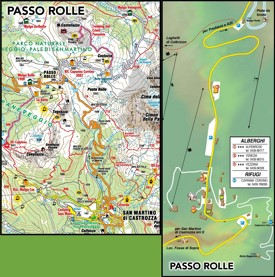 Passo Rolle tourist map