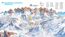 San Martino and Passo Rolle ski map