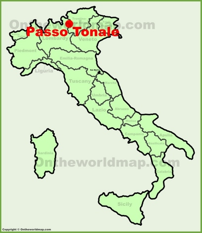 Passo Tonale Location Map