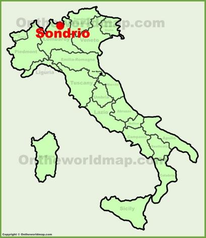 Sondrio Location Map