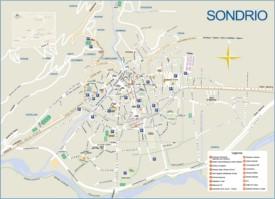 Sondrio town map