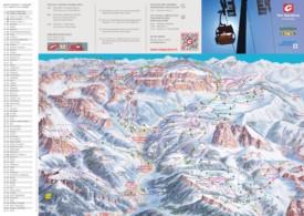 Val Gardena ski map