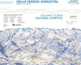 Valle Isarco piste map