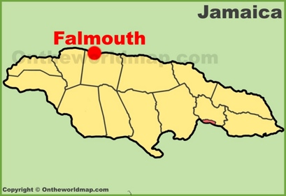 Falmouth Location Map