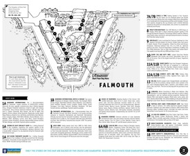 Port of Falmouth tourist map