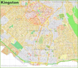Kingston city center map