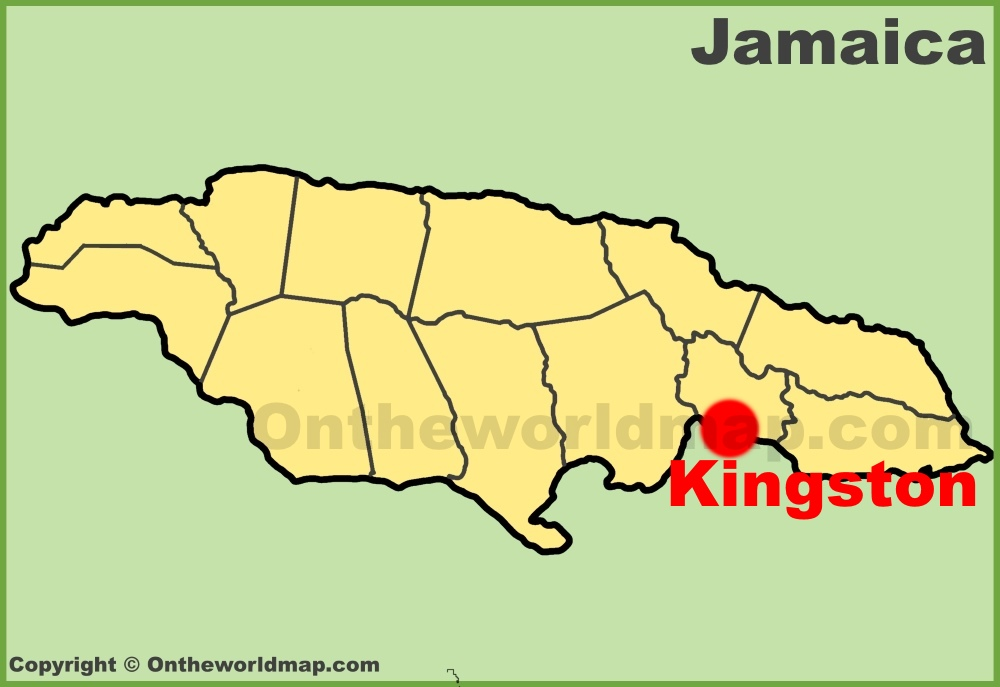 Kingston location on the Jamaica Map
