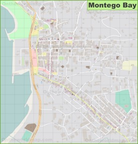 Montego Bay city center map
