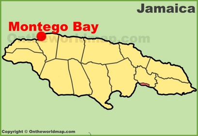 Montego bay maps jamaica maps of montego bay full size montego bay location map sciox Images