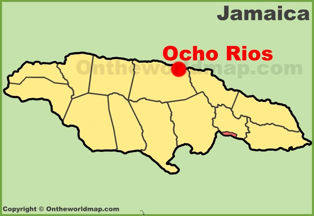 Ocho Rios location on the Jamaica Map