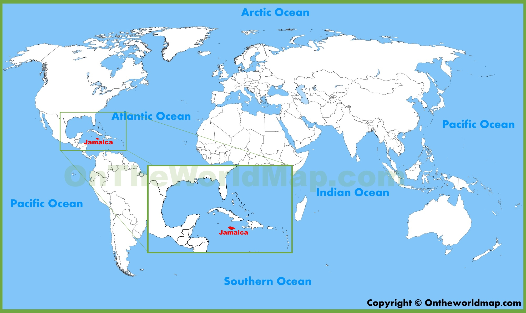 Jamaica Map World Jamaica location on the World Map Jamaica Map World