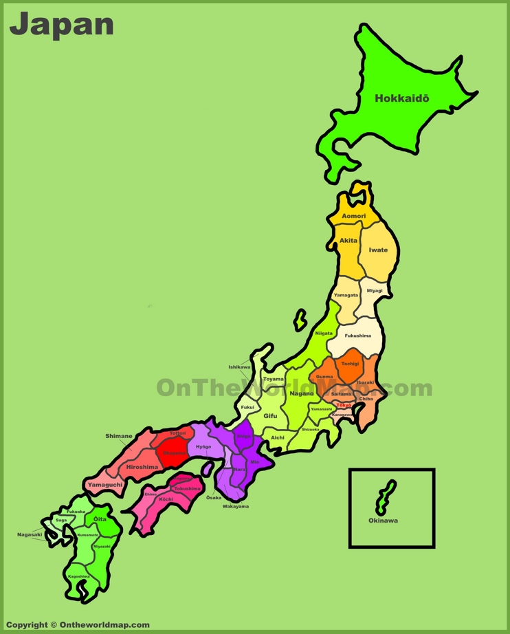 Administrative map of Japan
