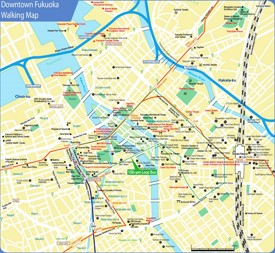 Fukuoka downtown map