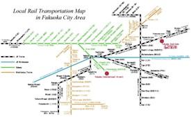 Fukuoka rail map