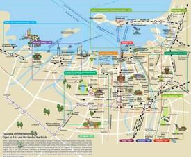 Fukuoka tourist map
