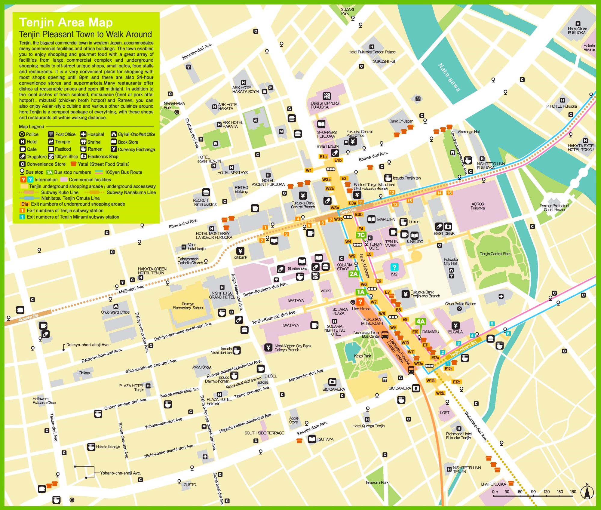 Tenjin Area map