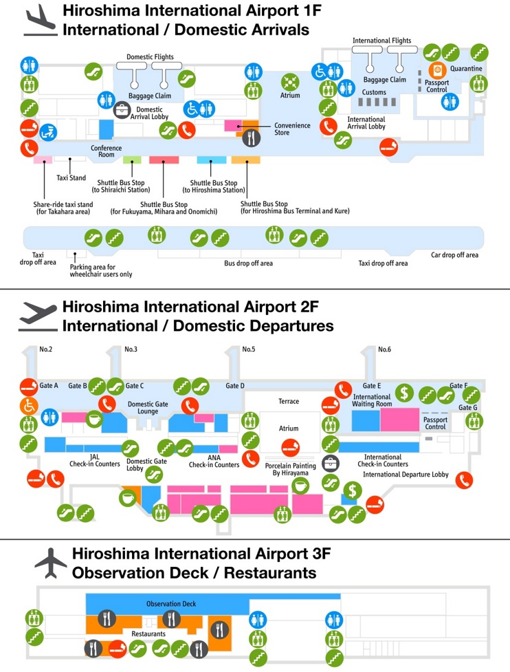 Hiroshima airport map