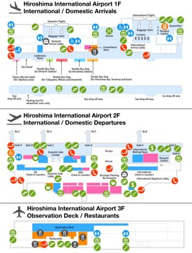 Hiroshima airport map