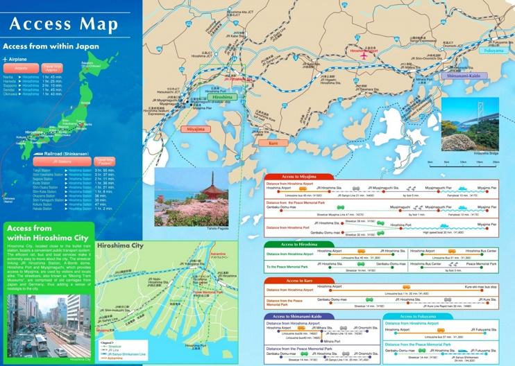 Hiroshima Area Map