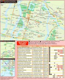 Hiroshima hotel map