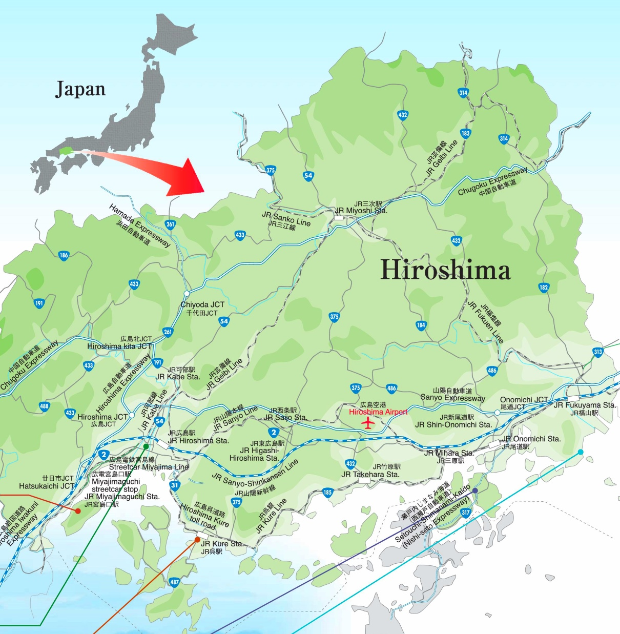 Hiroshima Prefecture Map