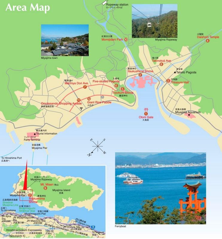 Itsukushima island map