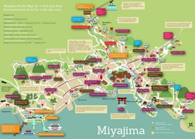 Miyajima sightseeing map