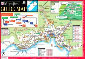 Miyajima tourist map