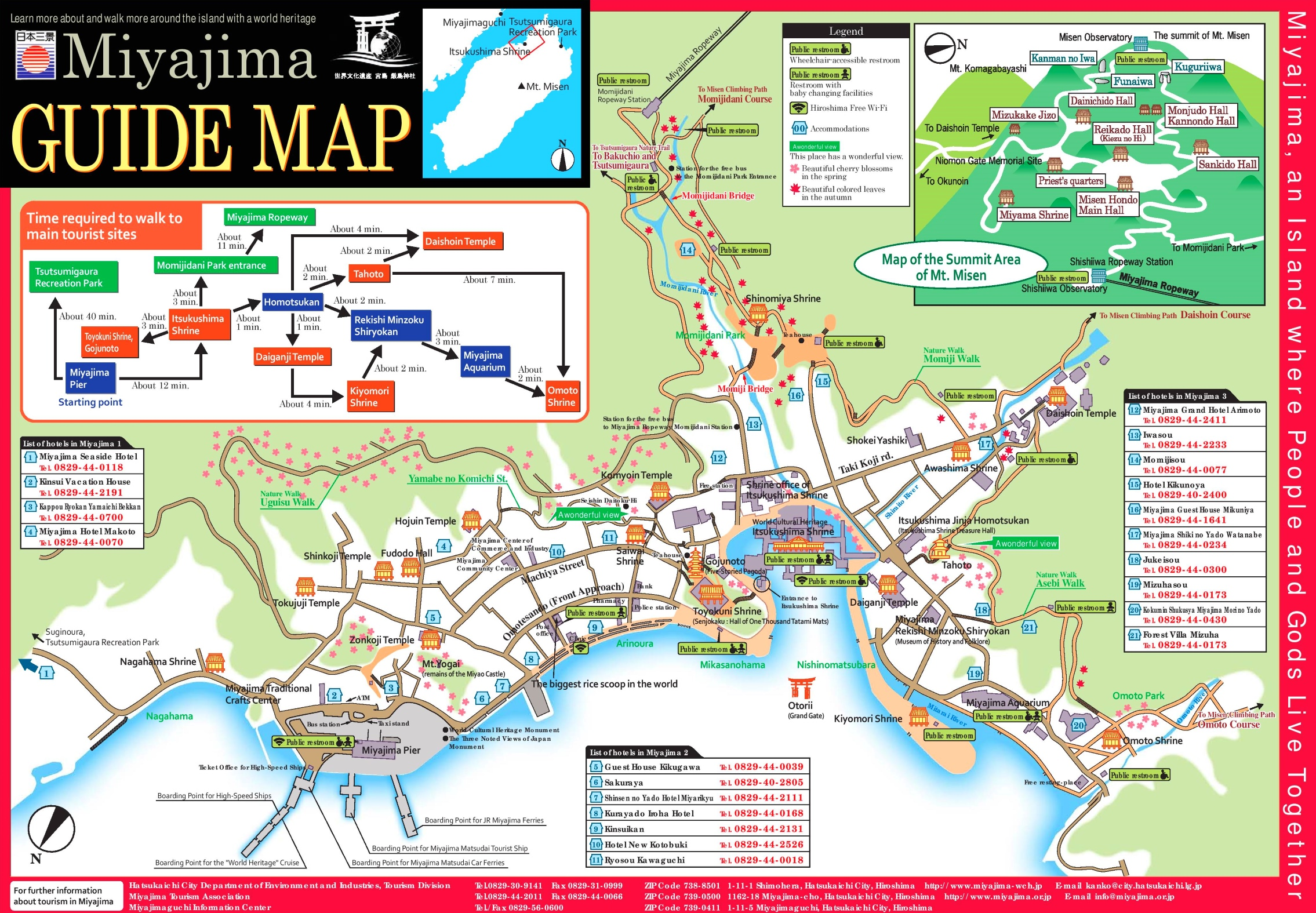 Miyajima tourist map